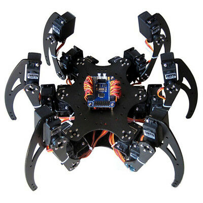 Hexapod 18DOF Spider Six Legs Robot Kit with Servo Horn & Ball Bearing Silver