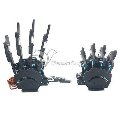 Assembled Robot Mechanical Claw Arm Five Fingers Right Hand & Left Hand+Servo