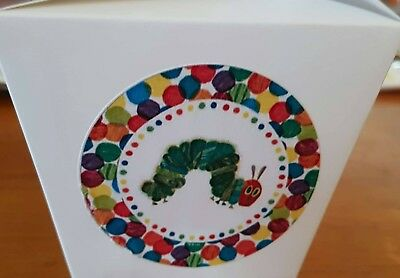 Set Of 12  Personalised Very Hungry Catepillar White Loot/gift/cake Boxes