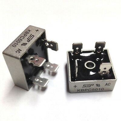 1 Pcs 50A 1000V Metal Case Single Phases Diode Bridge Rectifier KBPC5010 Welcome