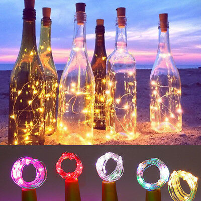 20LED Copper Cork Shaped String Light Wine Bottle Wire Strip Fairy Party Decor