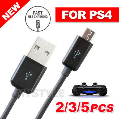 NEW 1x/2x/3x/5x USB Charger Charging Cable Cord for PS4 PLAYSTATION 4 Controlle