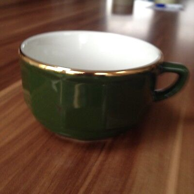 APILCO Green & Gold Coffee / Breakfast Cup - French Bistro Ware