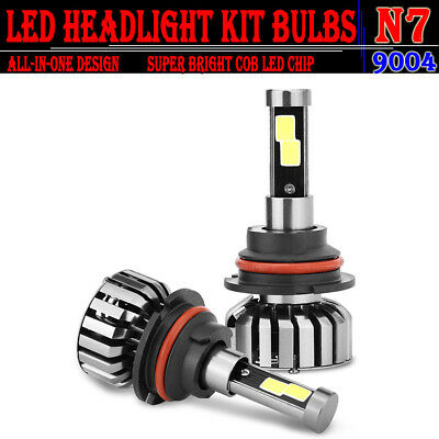 9004 HB1 80W 8000LM LED Headlight Kit COB Bulbs 6000K White Hi-Lo Beam Auto Car