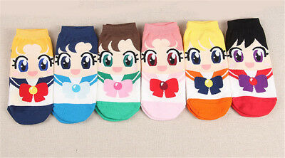 Süße Sailor Moon Crystal Damensocken Kindersocken Sneakers Socken Anime Kawaii