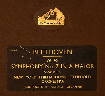 NEW YORK PHILH. ORCH. & TOSCANINI Beethoven: Symph. No. 7 in A Major Op. 92 A138