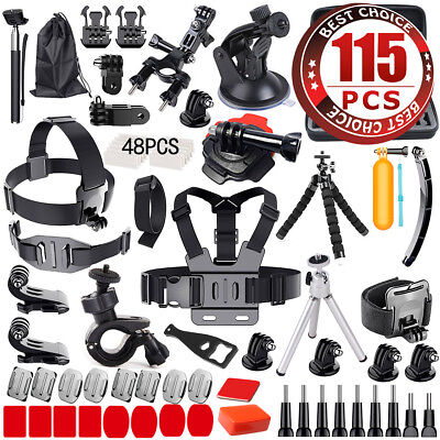 Accessories Pack Head Chest Monopod Bike Surf Mount for GoPro Hero 6 5 4 3+ 3 2