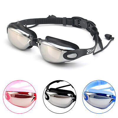 Swimming Goggles Swim Goggles Attached Earplugs Anti Fog UV Protection kids Men