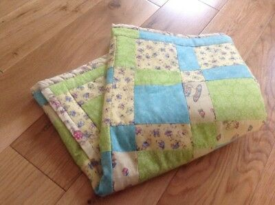 """Handmade Baby Quilt Patchwork Baby Quilt 25"""" X 35"""" Approx"""