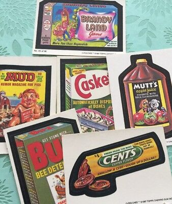 Wacky Packages Card Lot Vintage Topps Brandy Land Mud Casket Mutts Cents Buz
