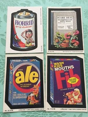 Wacky Packages Card Lot Vintage Topps Horrid Spray Deodorant Fib Ale Scare Deal