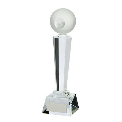Crystal Interceptor Pool Trophies Awards 3 sizes FREE Engraving