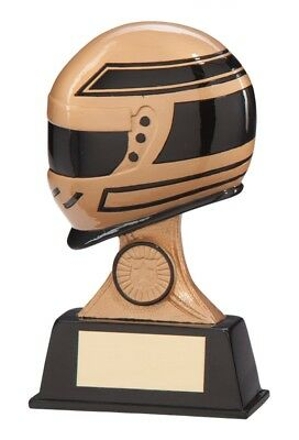 Resin Motor Sport Drivers Helmet Trophies Awards 3 sizes FREE Engraving