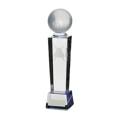 Crystal Legend Pool Tower Trophies Awards 3 sizes FREE Engraving
