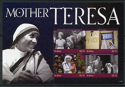 St Kitts 2011 MNH Mother Teresa Ronald Reagan Jacques Chirac 4v M/S I Stamps