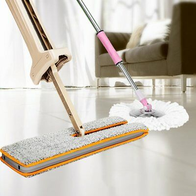 360 Degree Lazy Double-Side ABS Flat Mop Hand-Free Washable Mop Home Cleaning F0