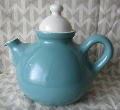 Russel Wright Polynesian Teapot Sterling China Shun Lee Aqua Mid-Century Modern