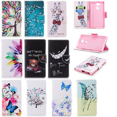 Leather Wallet Flip Magnetic Patterned Case Stand Cover For Sony Xperia L2 XA2 1
