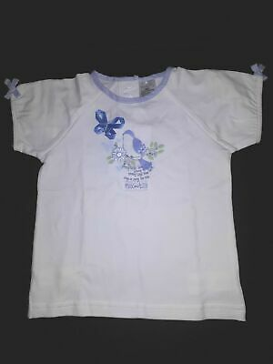 Max and Tilly Baby Girl's Bluebird Short sleeve Shirt White 12 - 18 Months
