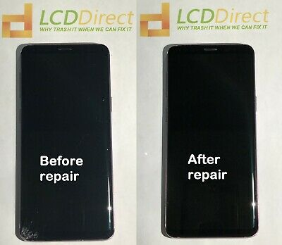 Samsung S8 Front and Back cracked glass repair mail in service