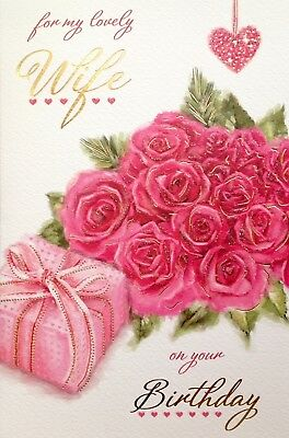 for my lovely wife happy birthday card luxury card verse made in uk