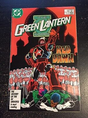 """The Green Lantern Corps#209 Incredible Condition 9.2(1987)""""Red Dawn"""""""