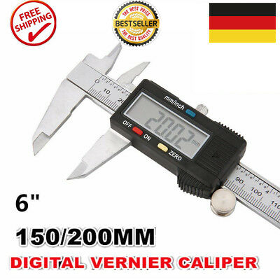 Digitaler Digital Messschieber Schieblehre mit Auto ON/OFF 150 mm TOP Angebot LP