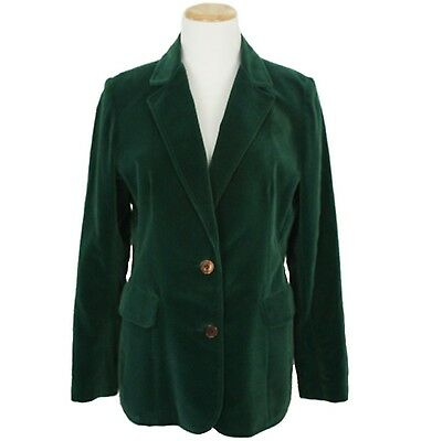 Vtg 70s 80s Mod Glam Rock Hippy Party Emerald Green Velvet Blazer Jacket M