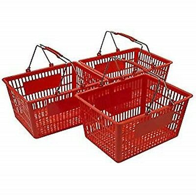 NEW Shopping Basket Set of 3 -Red