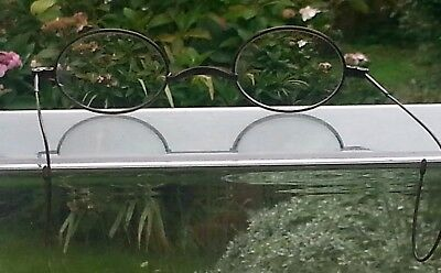 Vintage Silver Tone Wire Frame Glasses Oval Shape Marked A Steam Punk interest