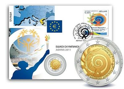 2 Euro Numisbrief Griechenland - Special Olympics Athen 2011 st