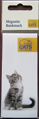 Cats Protection Magnetic Bookmark Curious Kitty - charity item