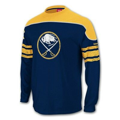 NHL Reebok Vintage Buffalo Sabres Cotton Hockey Jersey New Mens Size SMALL 37a64bcae