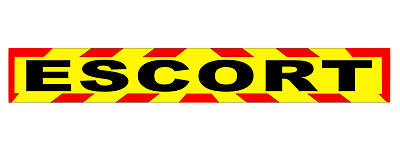 ESCORT MAGNET MAGNETIC Lorry Truck Trailer CHEVRON Towing Volvo DAF sticker 1