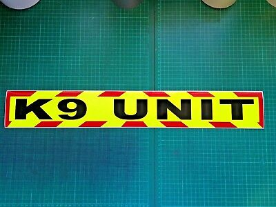 K9 UNIT  MAGNET DOG HANDLER MAGNETIC SECURITY CHEVRON DAYGLO Sticker 620mm