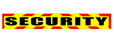 SECURITY MAGNET DOG HANDLER MAGNETIC SIA CHEVRON DAYGLO Sticker 620mm