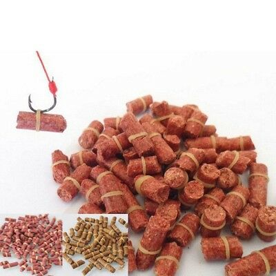 Carp Fishing Live Bait Pellet 100pcs/bag Red Feed Grass Blood Worm Fishy Smell