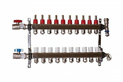 10 - Loop/Port Stainless Steel PEX Manifold Radiant Heating