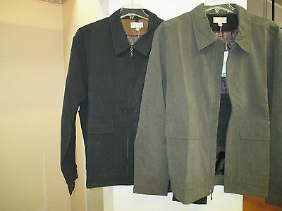 Nwt:  Men's 3Xl Cutter & Buck Weather Tec Jacket   $39.95  Black Or Woodsmoke