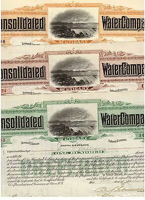 Lot: 3 Consolidated Water Company of Utica New York