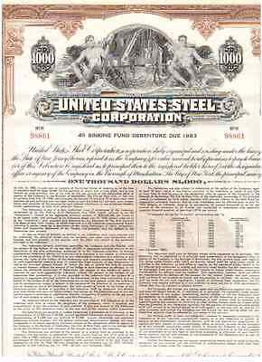 United States Steel Corporation  1958  1000$ Bond