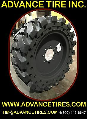 **NEW 33-12-20 TA SOLID 12-16.5 SKID STEER TIRES AND WHEELS 33x12x20 12x16.5**