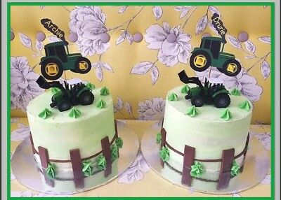 Tractor Bus Jcb Plane Plus A Fire Engine Birthday Cake Topper Personalised