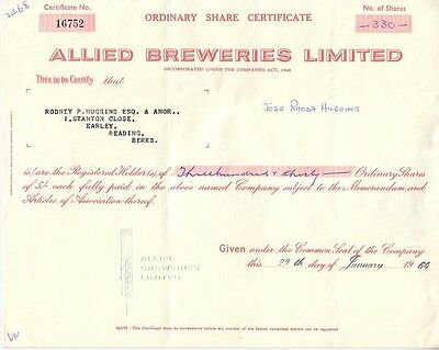 Allied Breweries Limited  1964