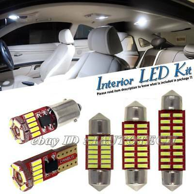 WHITE LED INTERIOR LIGHT SET KIT BULBS XENON For VW GOLF MK6 2009 - 2014
