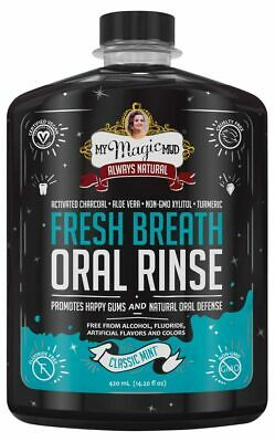 Charcoal Oral Rinse - Classic Mint 420ml - My Magic Mud