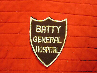 Batty General Hospital -Rare Medical Patch From Wwii Era