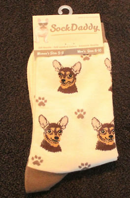 Chihuahua Black Dog Breed Lightweight Stretch Cotton Adult Socks