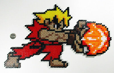 Street Fighter Ken Perler Bead Pixel Art