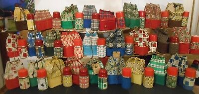 1950's Rare Collection of 27 Lunchbox Thermos Drawstrings Instant Collection Wow